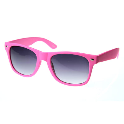 New Matte Rubberized Neon Color Soft Finish Neon Horn Rimmed Sunglasses