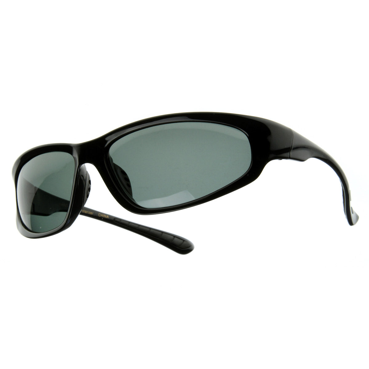Wide Oval Premium Polarized Sports Frame Sunglasses
