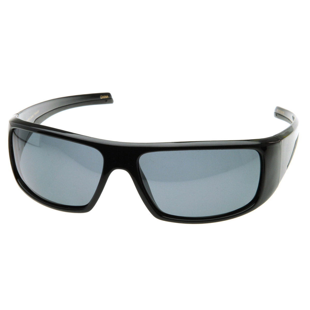 Bold Rectangular Polarized Sports Wrap Sunglasses