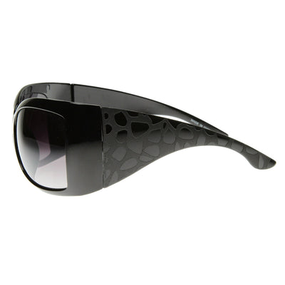 Large  Womens Oversized Wrap Around Sunglasses