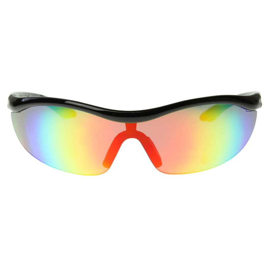 Shatterproof Durable TR90 Half Jacket Shield Sports Sunglasses