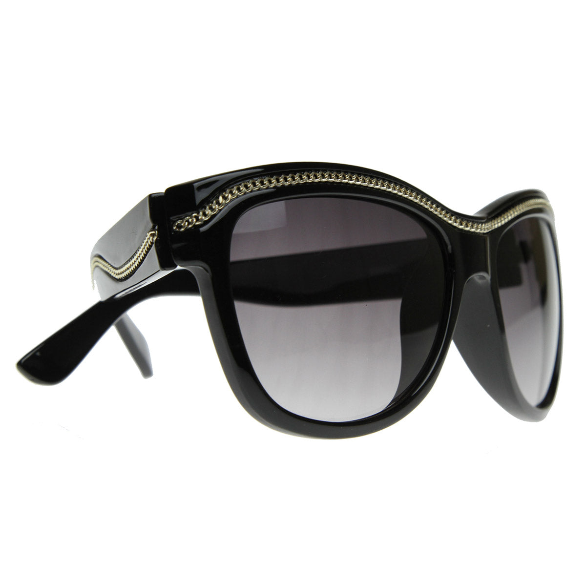 Womens Designer Inspired  Trendy Fashion Chain Link Sunglasses