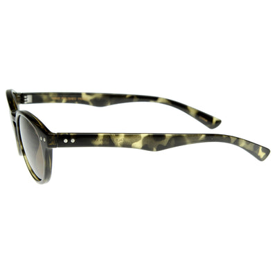 Premium Small P-3 Frame Key Hole Round Sunglasses