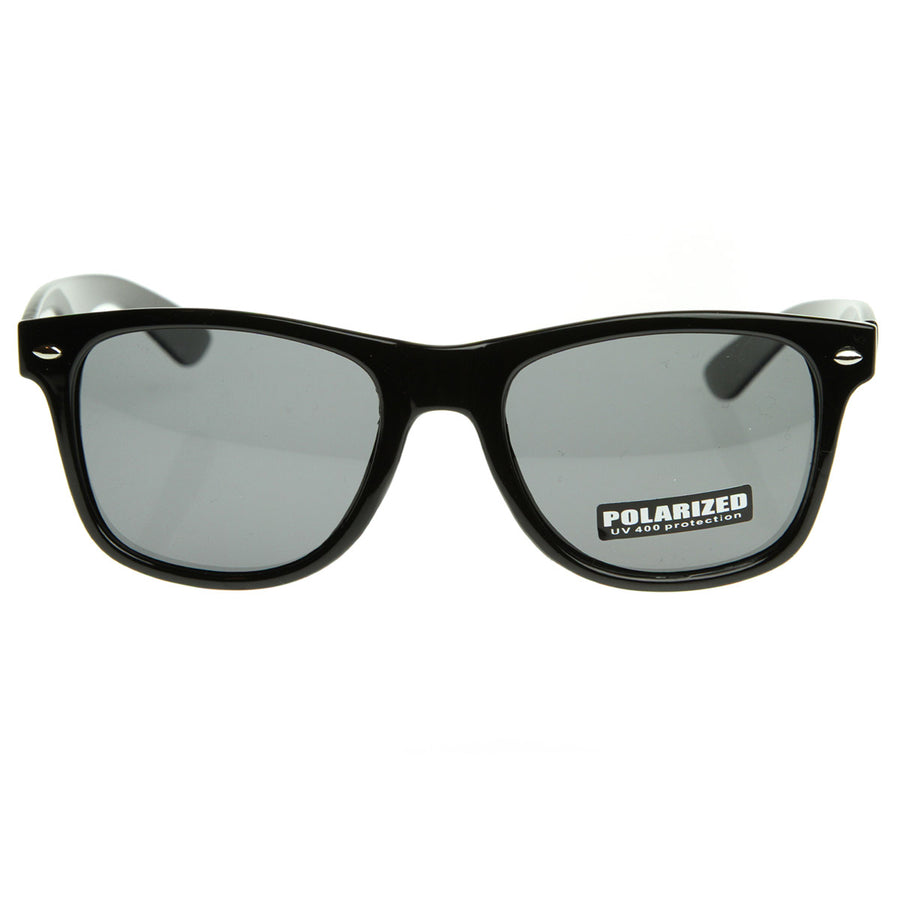 b51018004a Large Polarized Lens Protection Classic Retro Horn Rimmed Style Sunglasses