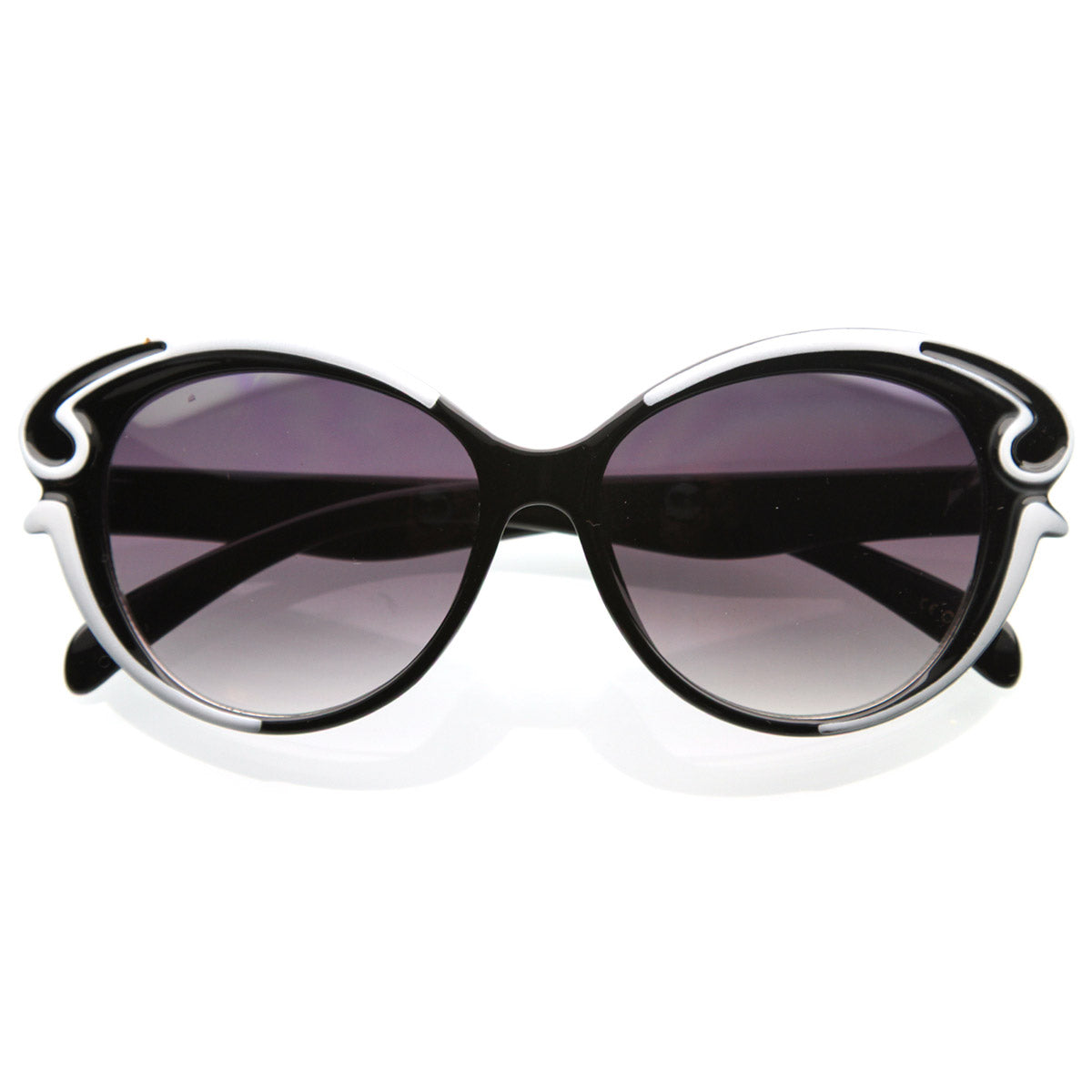 Designer Inspired Butterfly Shape Baroque Style Oversized Fashion Sung Sunglass La