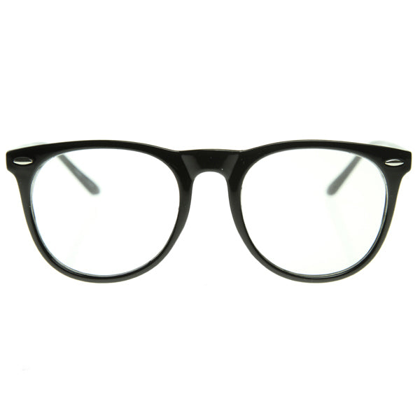 Oversized Large Fashion Clear Lens Round Glasses