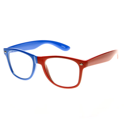 Blue-Red Clear Lens