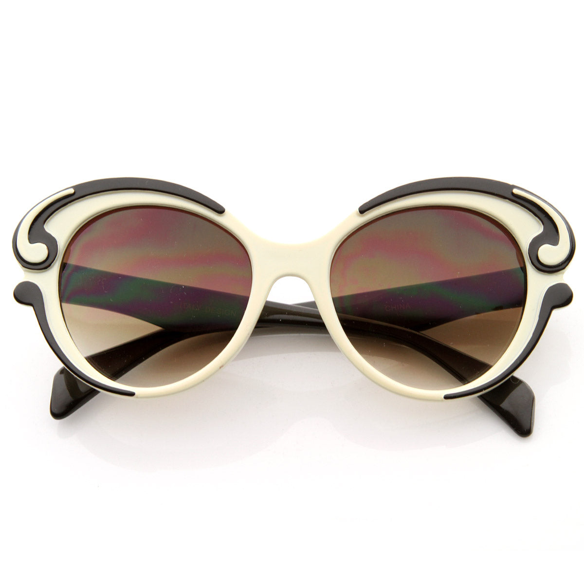 Designer Inspired Butterfly Baroque Style Womens Oversized Fashion Sun Sunglass La