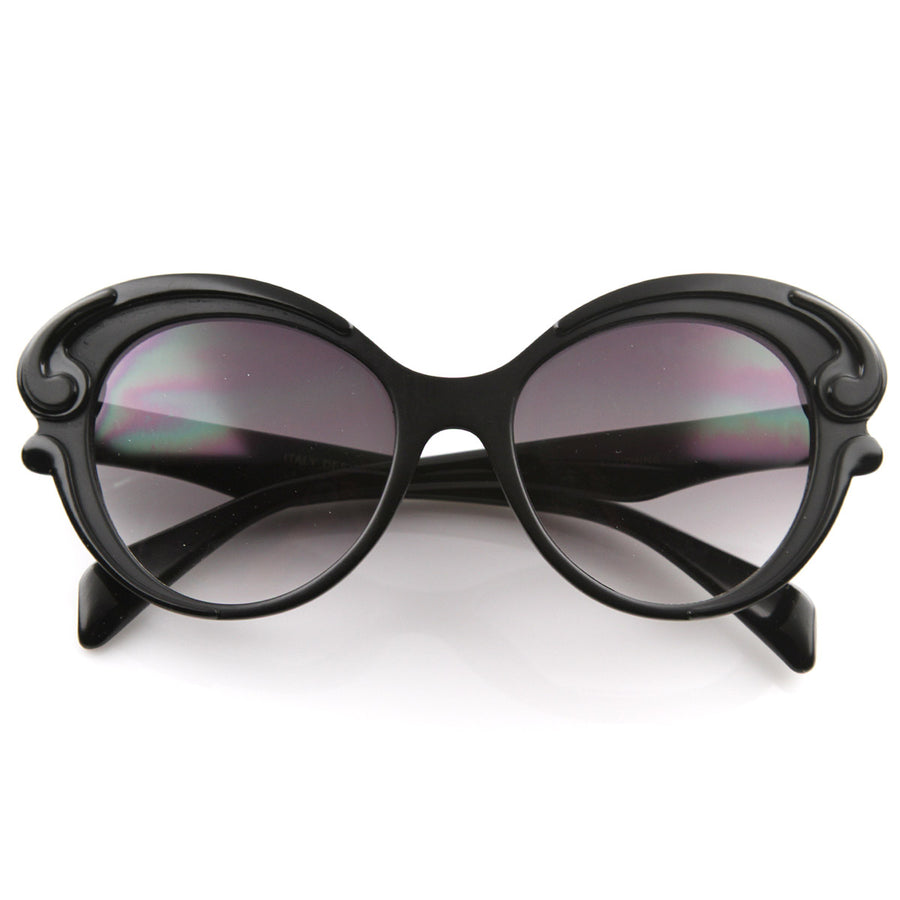 176981ff1fd7 Designer Inspired Butterfly Baroque Style Womens Oversized Fashion  Sunglasses