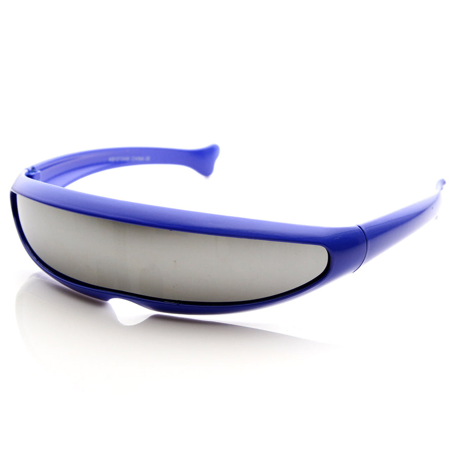 5d62f251cfaaf Futuristic Narrow Cyclops Novelty Party Shield Sunglasses