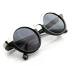 Vintage Inspired Retro Fashion Round Horned Circle Sunglasses