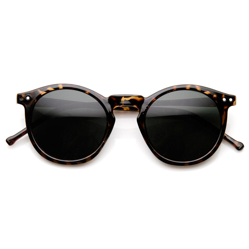 Vintage Inspired Round Horned P-3 Sunglasses With Key Hole