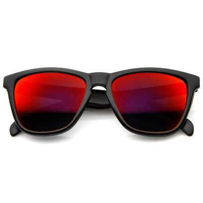 2246ef48d Action Sports Color Mirror Lens Modified Horn Rimmed Sunglasses ...
