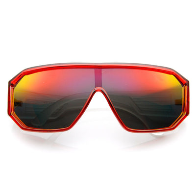 Action Sport Hexagon Flash Mirror Lens Shield Sunglasses
