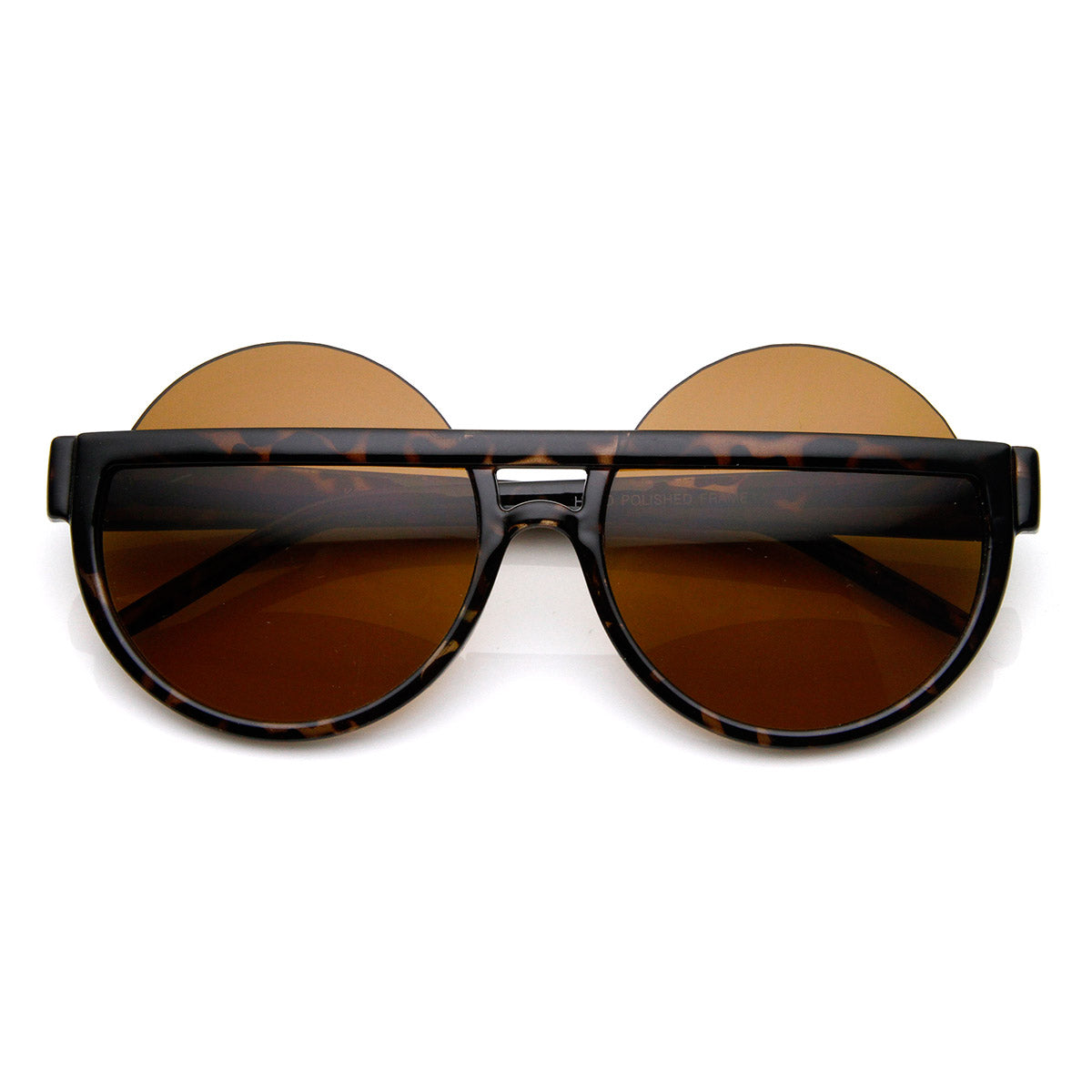 d160b3468 Big Mod Round Circle Half Frame Oversized Sunglasses - sunglass.la