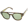 Retro Fashion Horned Rim Double Bridge Flat Top Aviator Sunglasses