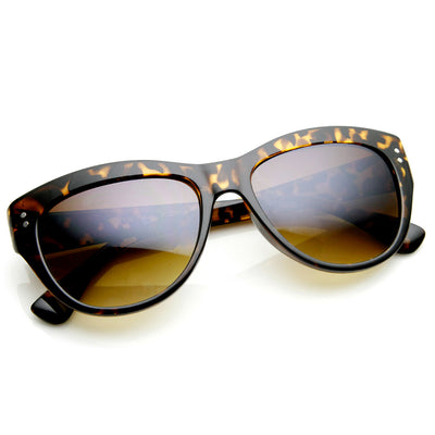 Womens Fashion Riveted Mid Sized Cateye Sunglasses