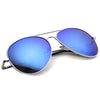 Color Revo Tint Mirror Metal Aviator Sunglasses