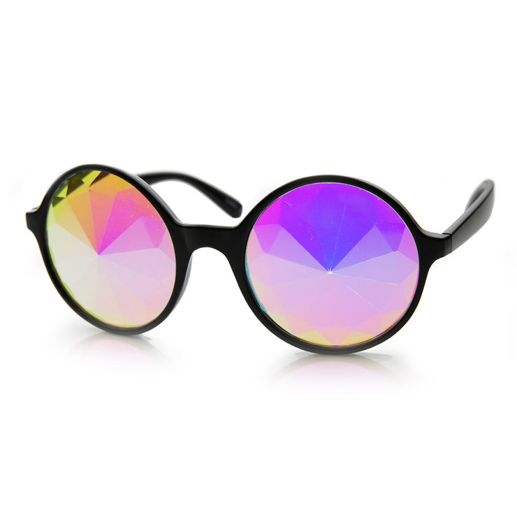 Black Kaleidoscope / Rainbow Lens