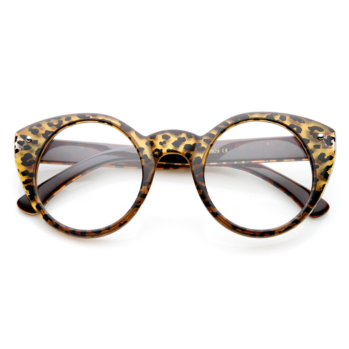 55e3e46673 Round Cat Eye Clear Fashion Frame Glasses - sunglass.la