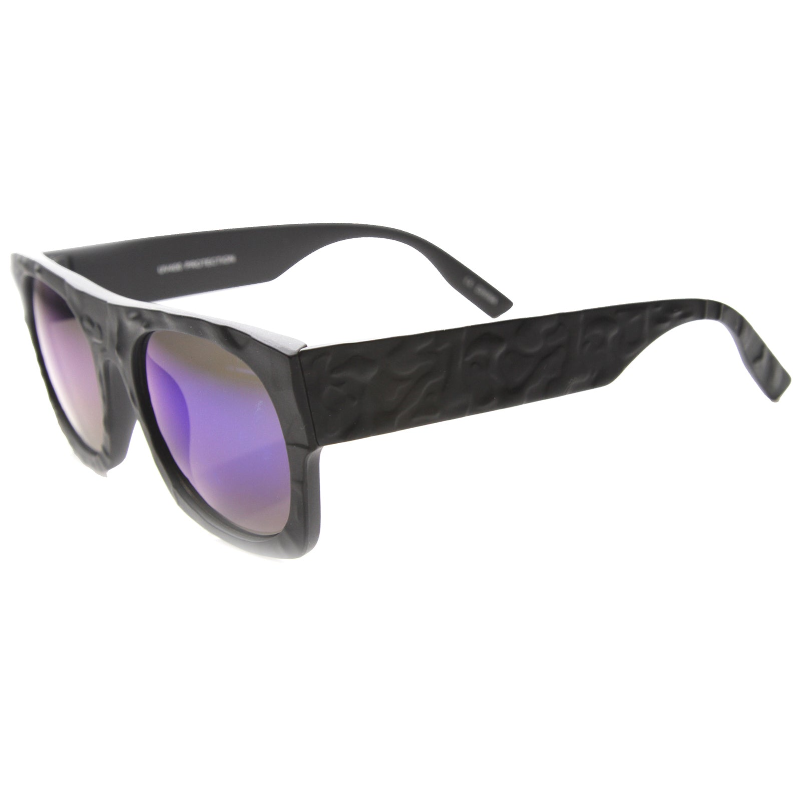 Unisex Rectangular Sunglasses With UV400 Protected Mirrored Lens - sunglass.la - 2