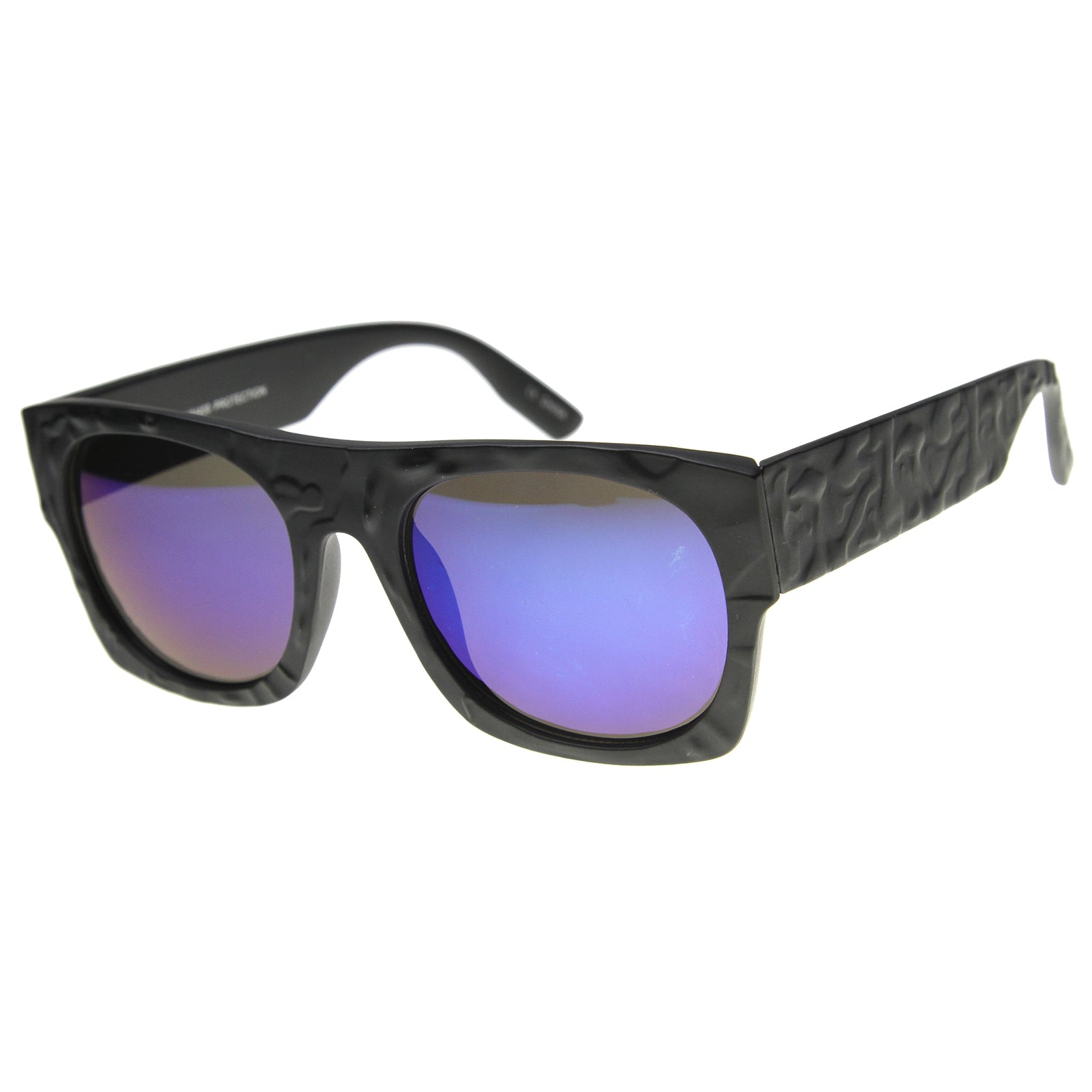 Unisex Rectangular Sunglasses With UV400 Protected Mirrored Lens - sunglass.la - 4