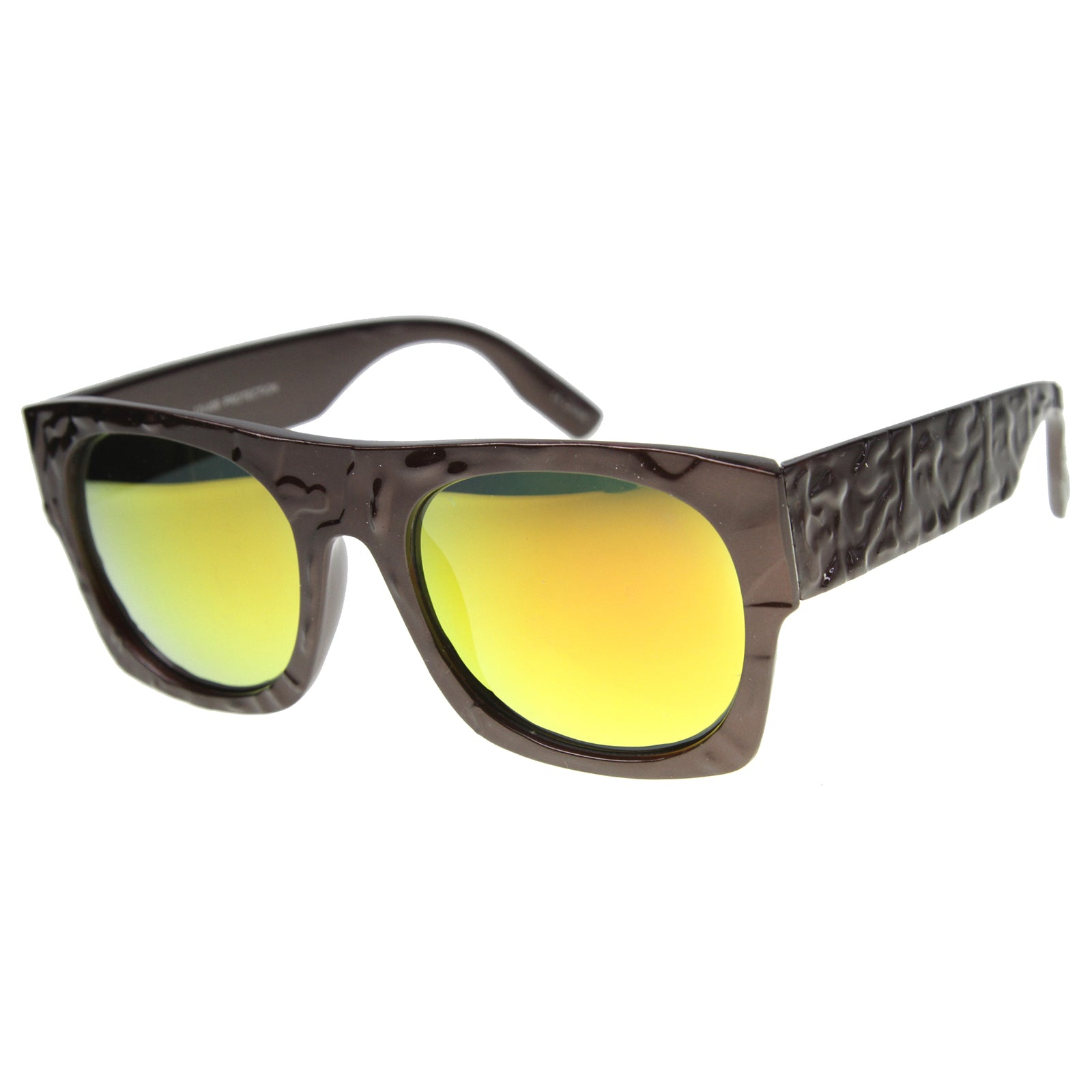 Unisex Rectangular Sunglasses With UV400 Protected Mirrored Lens - sunglass.la - 5