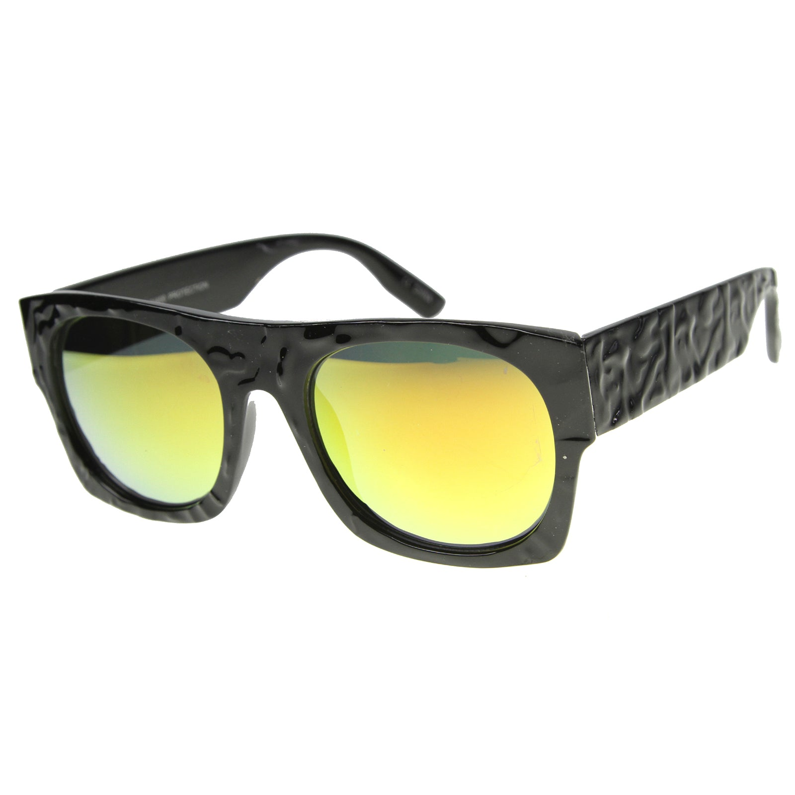 Unisex Rectangular Sunglasses With UV400 Protected Mirrored Lens - sunglass.la - 7