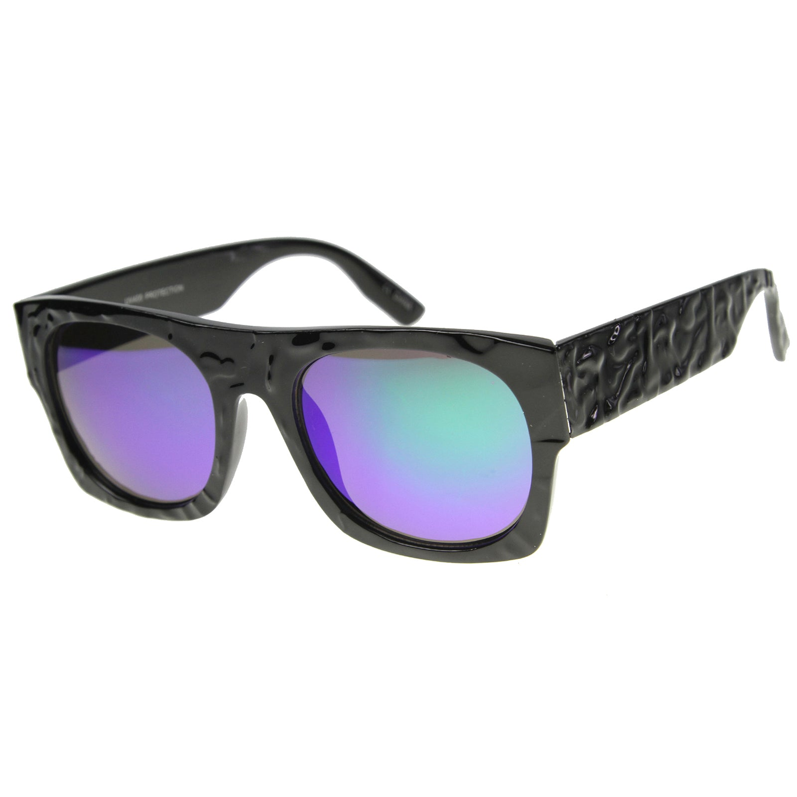 Unisex Rectangular Sunglasses With UV400 Protected Mirrored Lens - sunglass.la - 8
