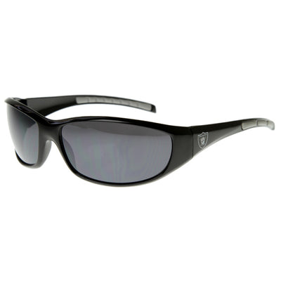 Officially Licensed NFL Football Oakland Raiders Sports Wrap Sunglasses