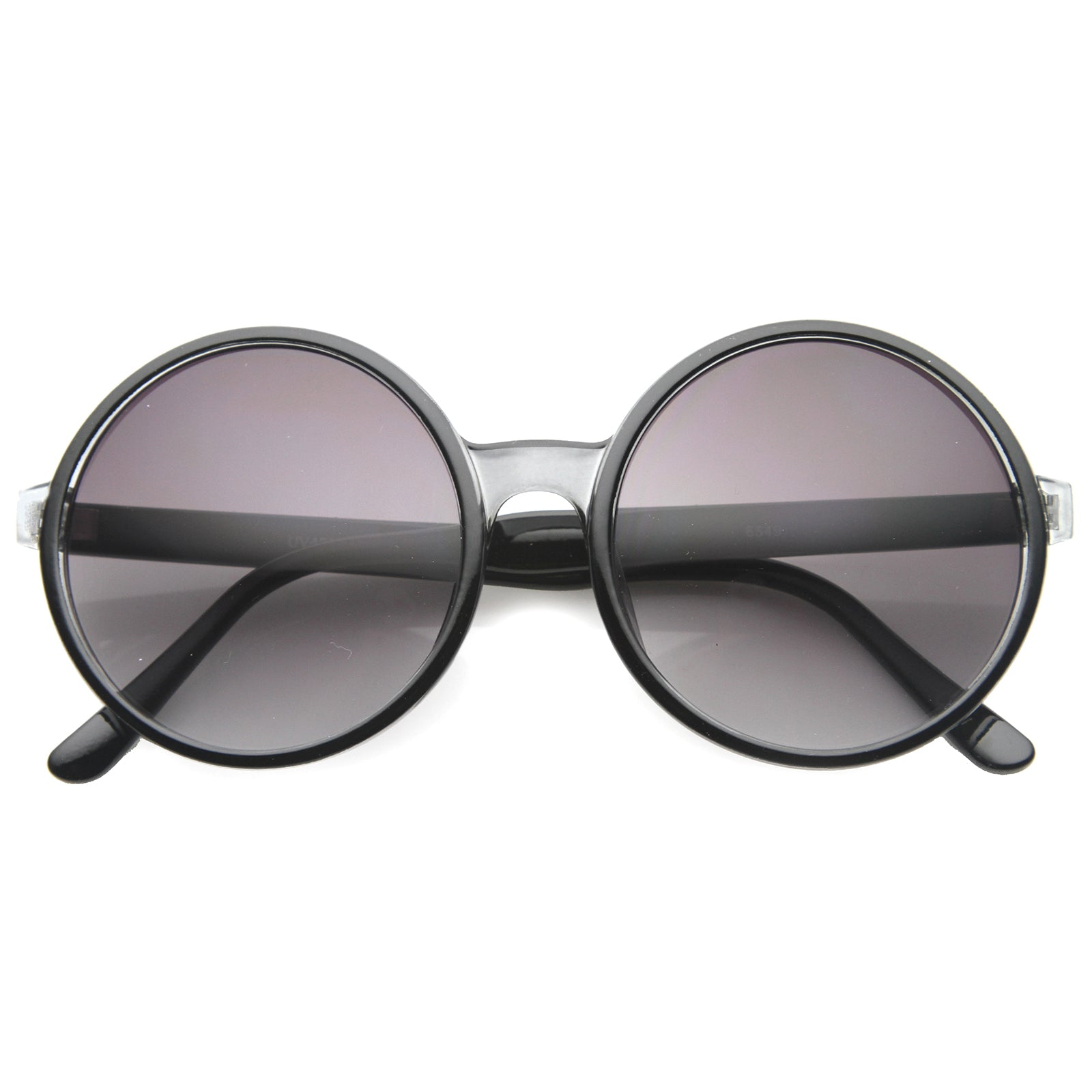 Womens Round Sunglasses With UV400 Protected Gradient Lens - sunglass.la - 1