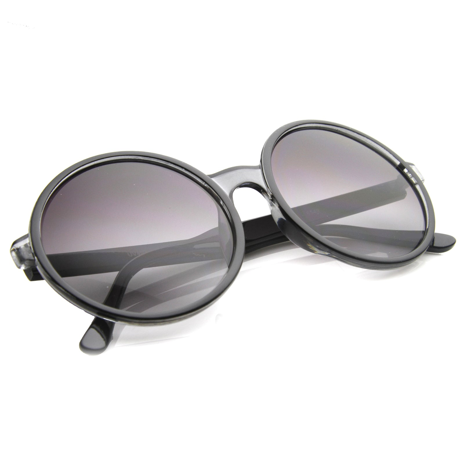 Womens Round Sunglasses With UV400 Protected Gradient Lens - sunglass.la - 4