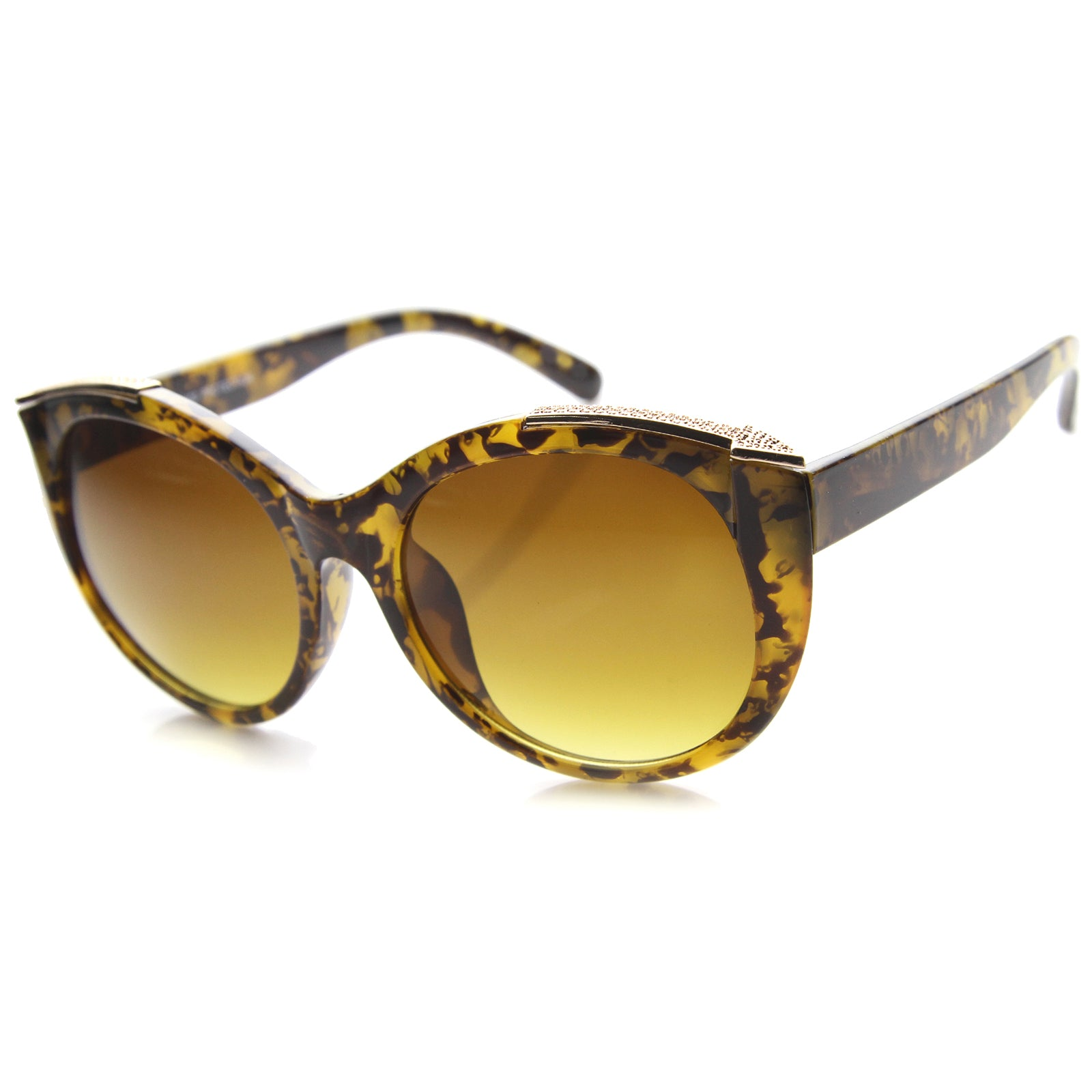 Womens Cat Eye Sunglasses With UV400 Protected Gradient Lens - sunglass.la - 5