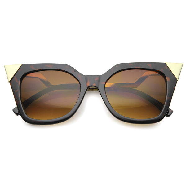 Womens Cat Eye Sunglasses With UV400 Protected Gradient Lens - sunglass.la - 1