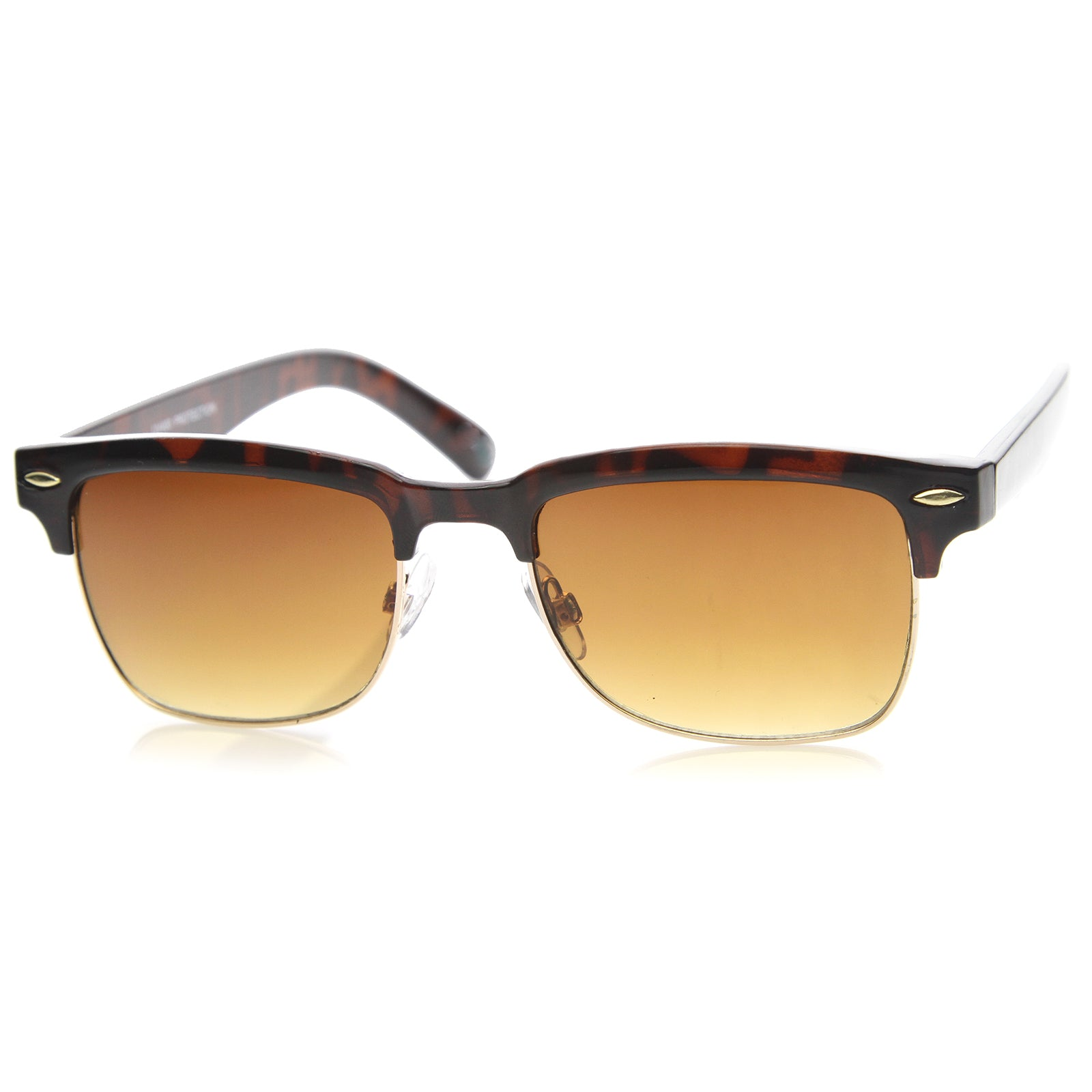Mens Semi-Rimless Sunglasses With UV400 Protected Composite Lens - sunglass.la - 2