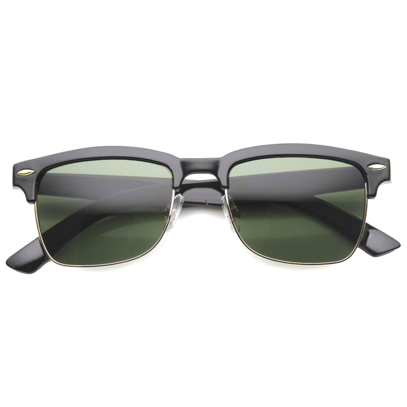 Mens Semi-Rimless Sunglasses With UV400 Protected Composite Lens - sunglass.la - 5