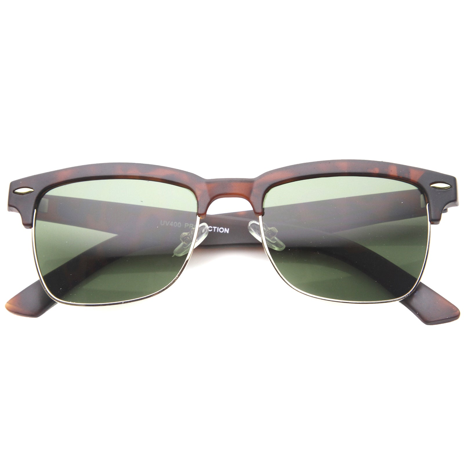 Mens Semi-Rimless Sunglasses With UV400 Protected Composite Lens - sunglass.la - 6