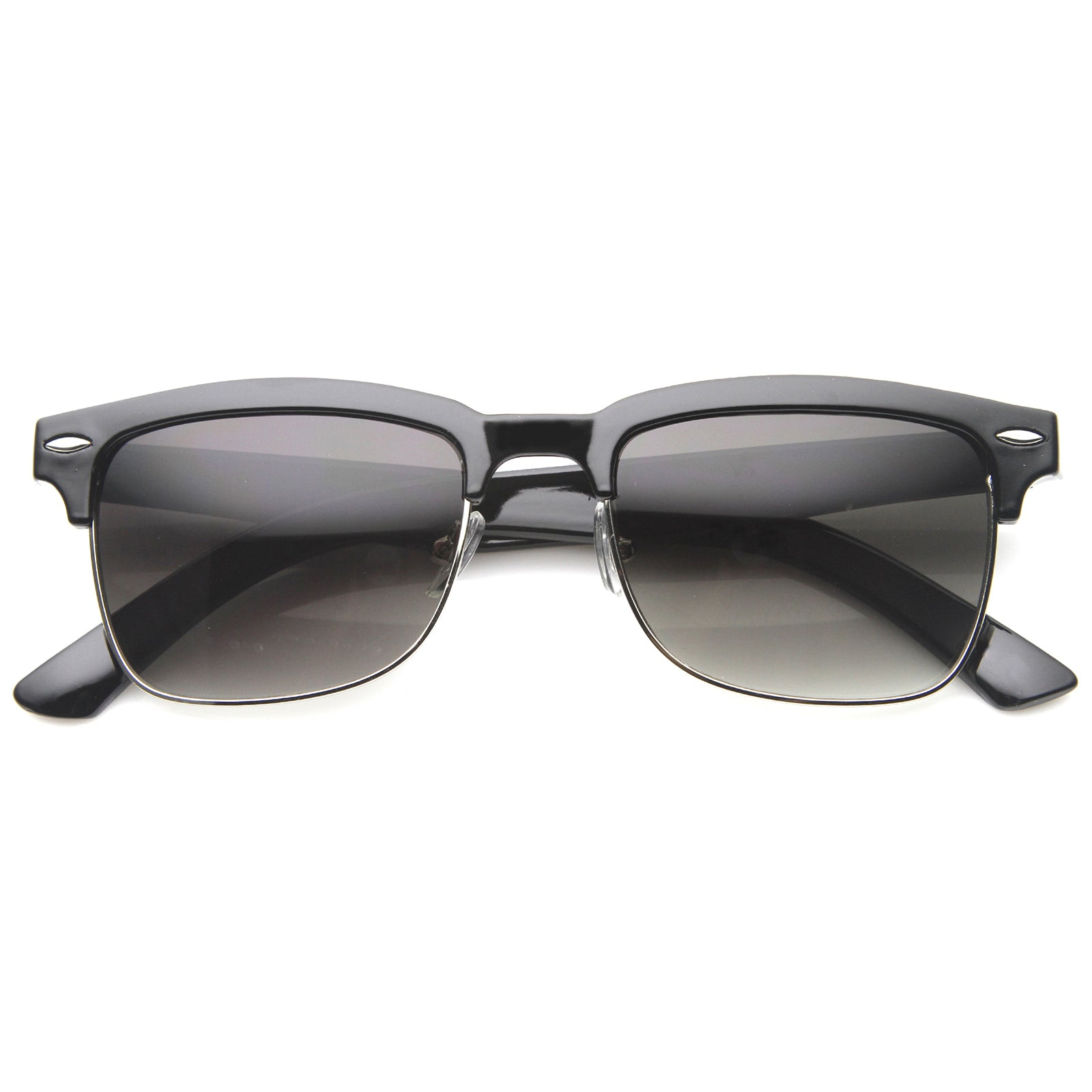 Mens Semi-Rimless Sunglasses With UV400 Protected Composite Lens - sunglass.la - 8