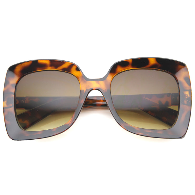 Womens Butterfly Sunglasses With UV400 Protected Gradient Lens - sunglass.la - 1