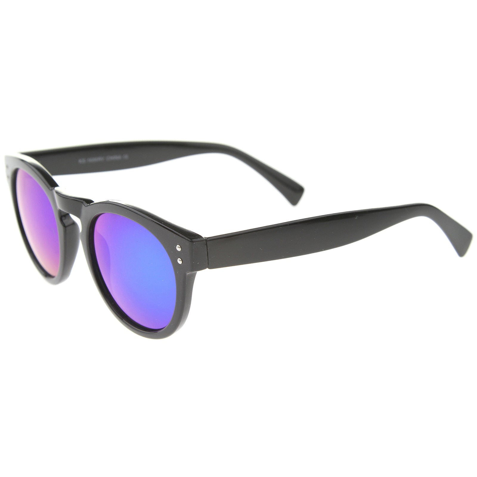 Womens Horn Rimmed Sunglasses With UV400 Protected Mirrored Lens - sunglass.la - 11