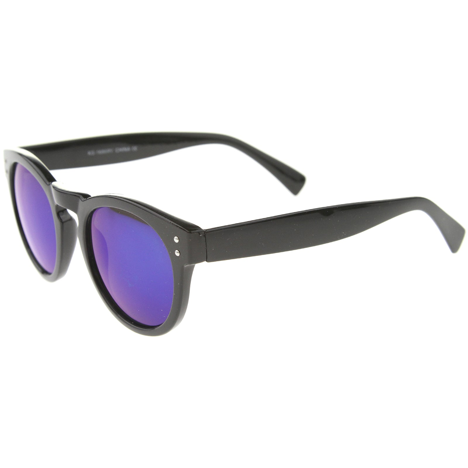 Womens Horn Rimmed Sunglasses With UV400 Protected Mirrored Lens - sunglass.la - 15