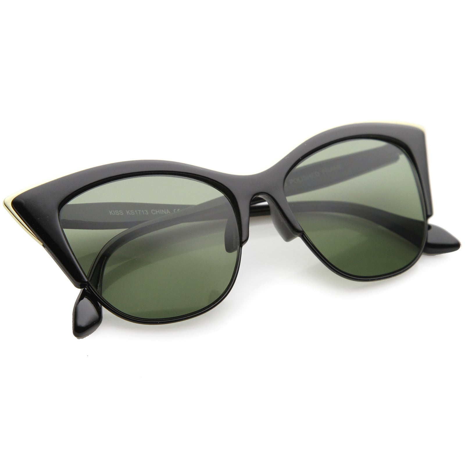 Cat Eye Sunglasses With UV400 Protected Composite Lens - sunglass.la