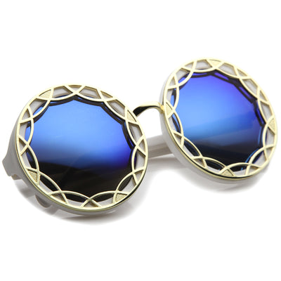White-Gold / Blue Mirror