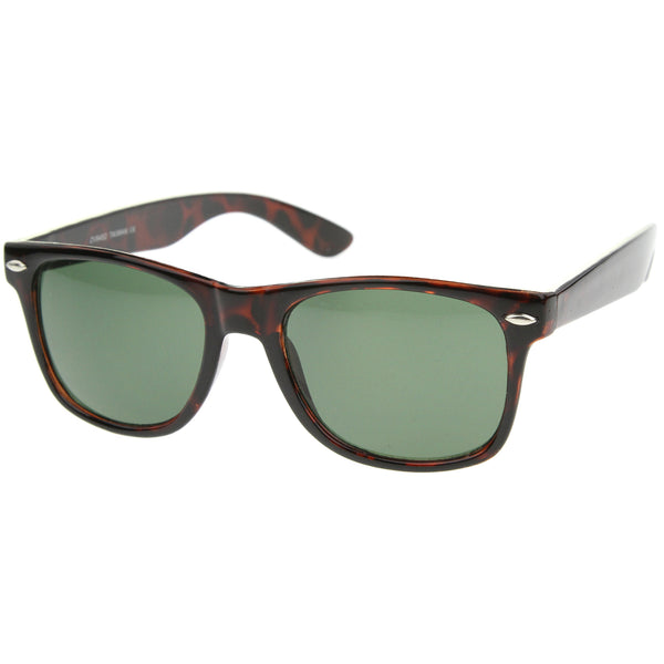 Mens Horn Rimmed Eyewear With UV400 Protected Composite Lens - sunglass.la - 1