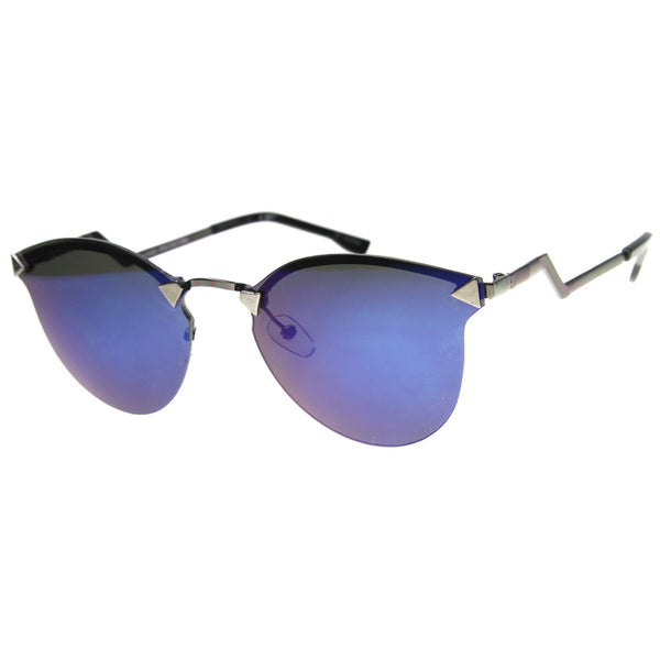 Mens Metal Aviator Sunglasses With UV400 Protected Mirrored Lens - sunglass.la - 1
