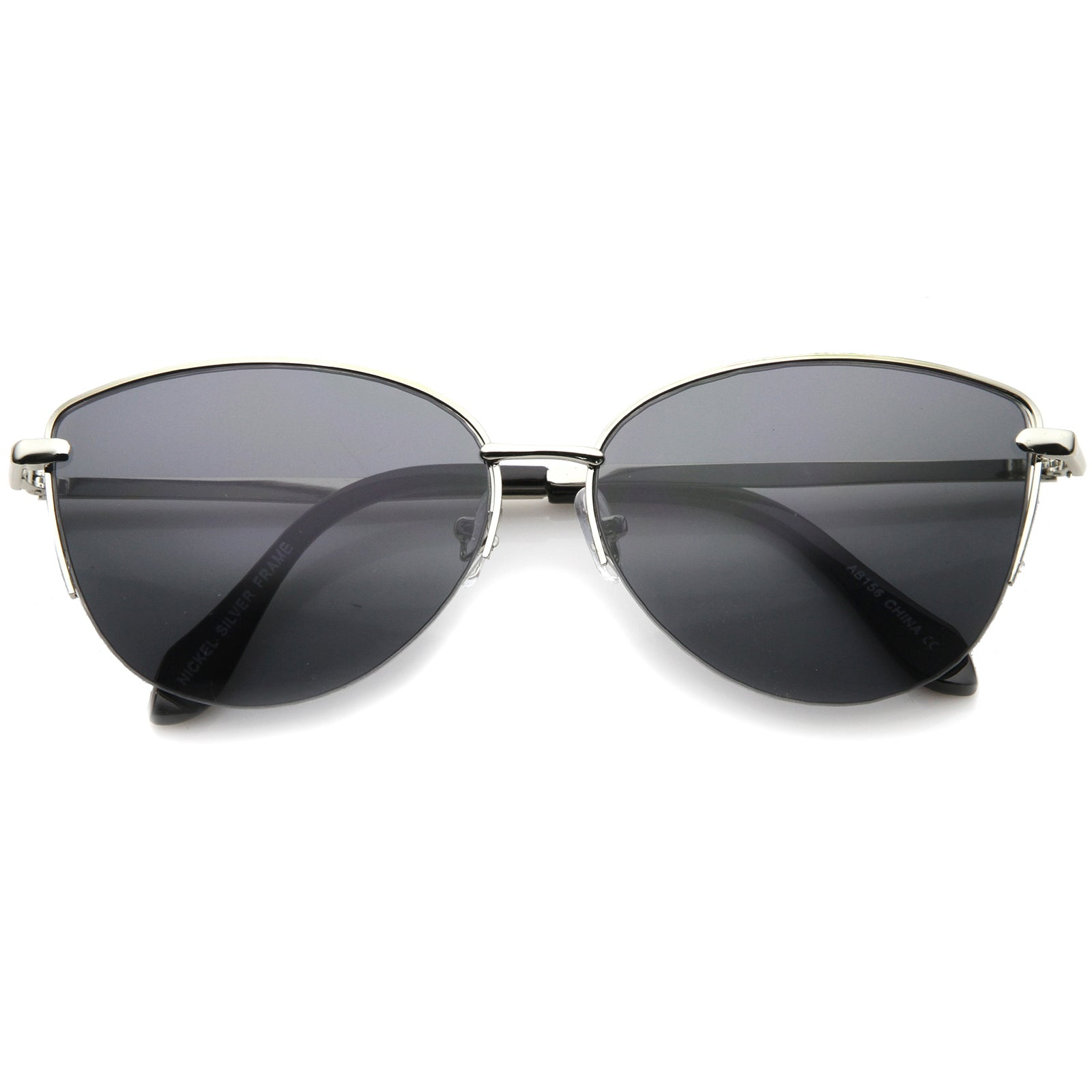 Composite Cat Eye Sunglasses With UV400 Protected Gradient Lens - sunglass.la