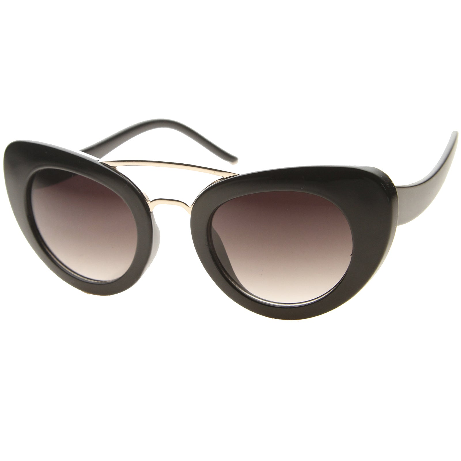 Cat Eye Sunglasses With UV400 Protected Gradient Lens - sunglass.la