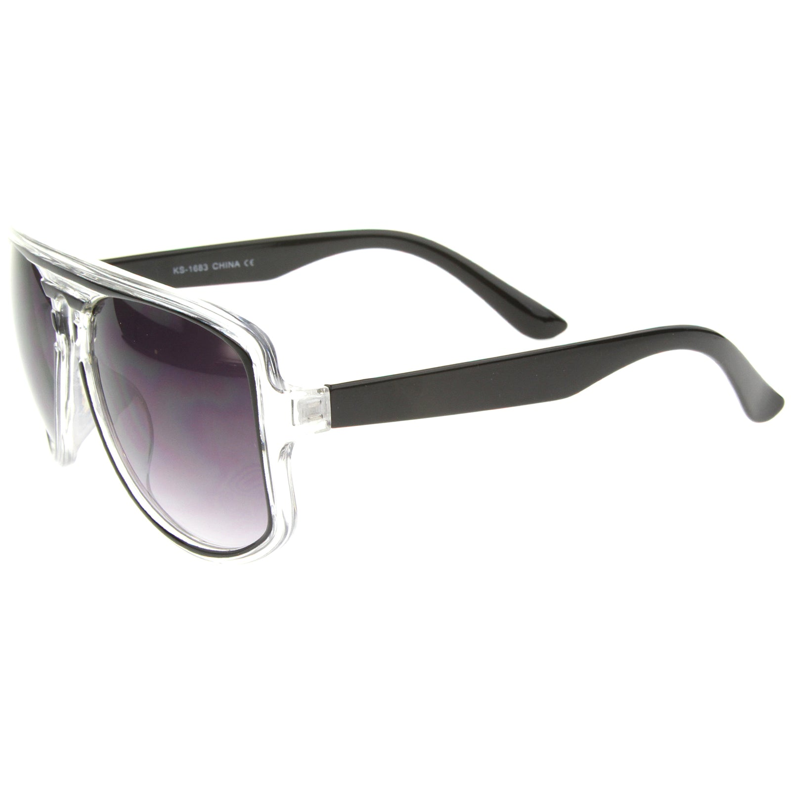 Aviator Sunglasses With UV400 Protected Gradient Lens - sunglass.la