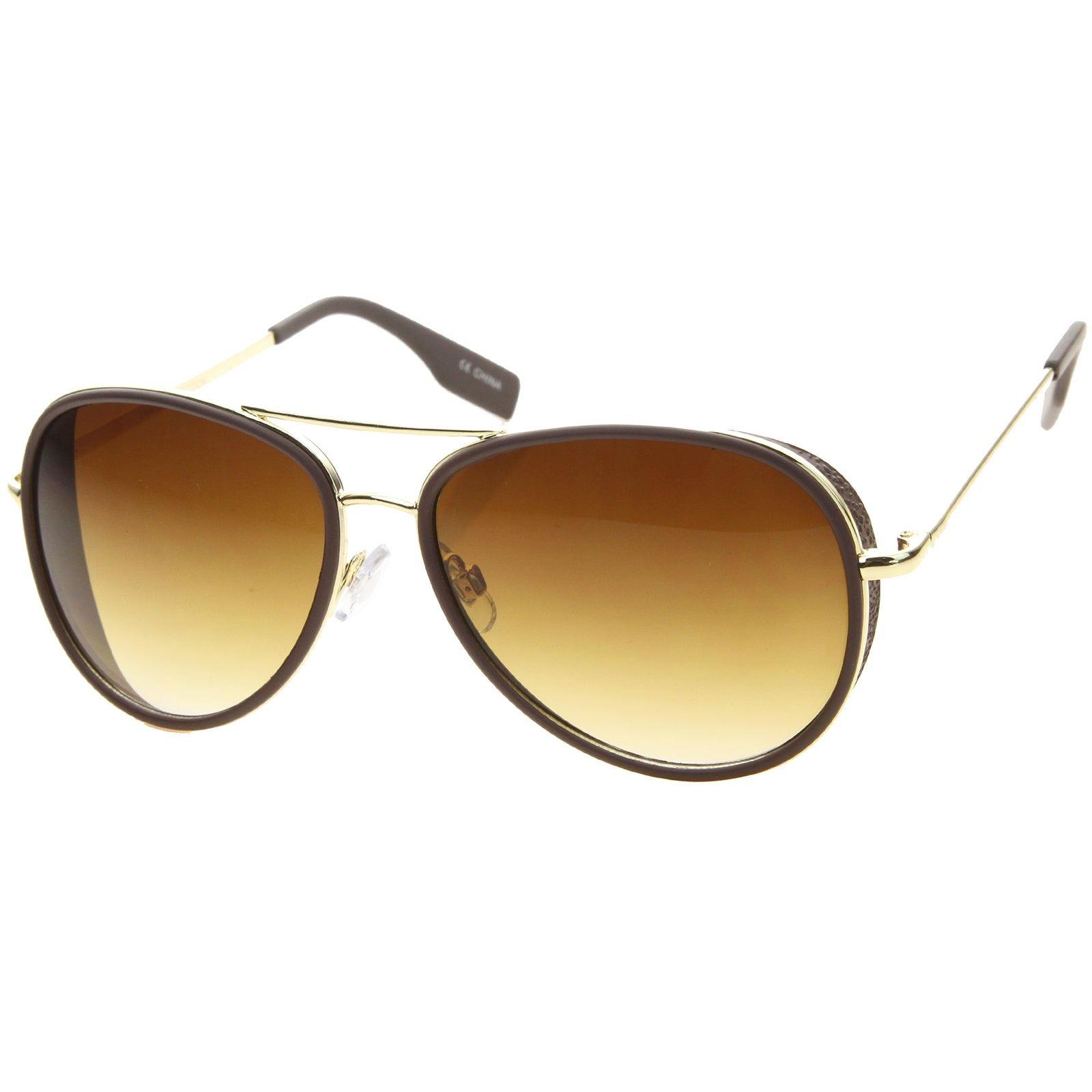 Womens Aviator Sunglasses With UV400 Protected Gradient Lens - sunglass.la - 2