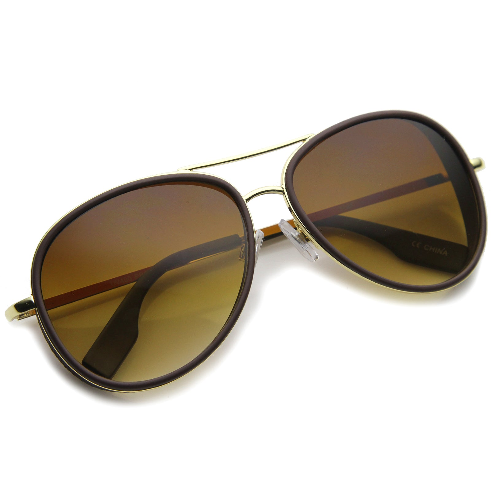 Womens Aviator Sunglasses With UV400 Protected Gradient Lens - sunglass.la - 4